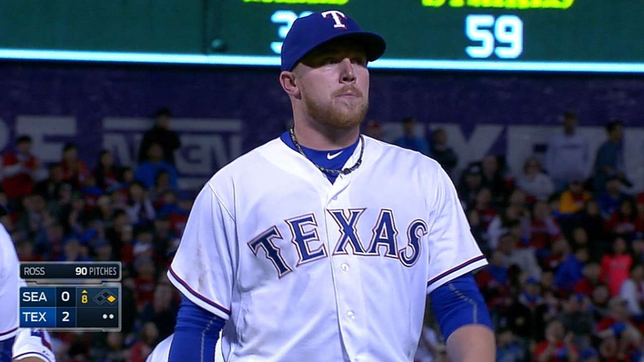 Ross' gem lifts Rangers to shutout of Mariners