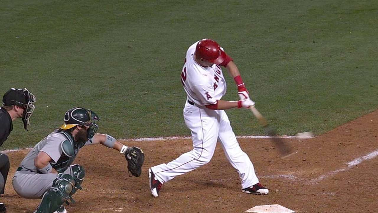 Trout's late homer not enough as Halos fall to A's