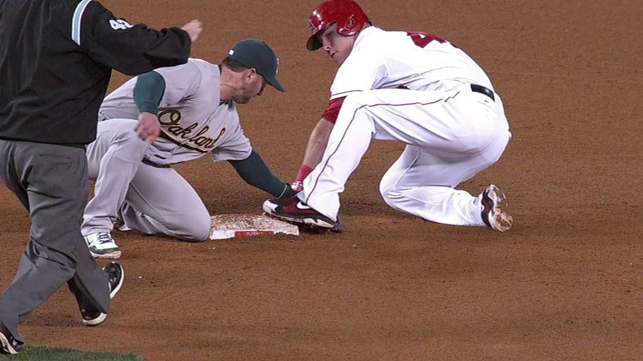 Trout doesn't expect to change approach on bases