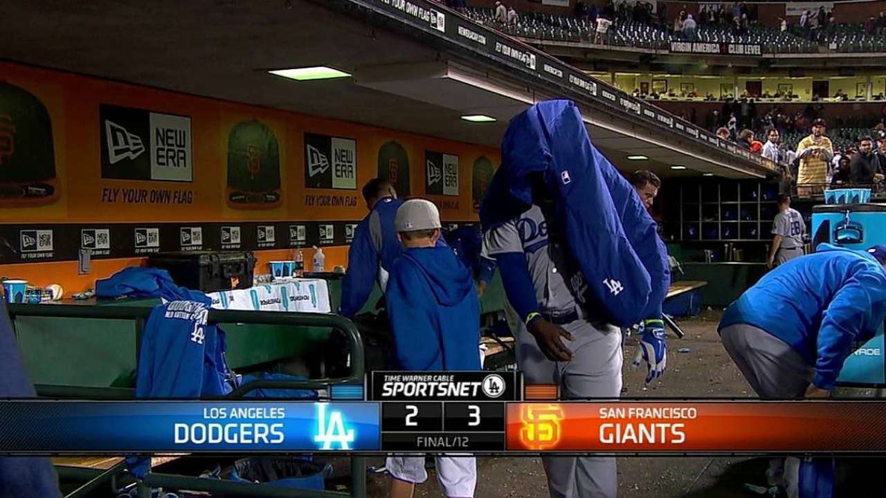 League allows winner as Dodgers fall in 12th inning