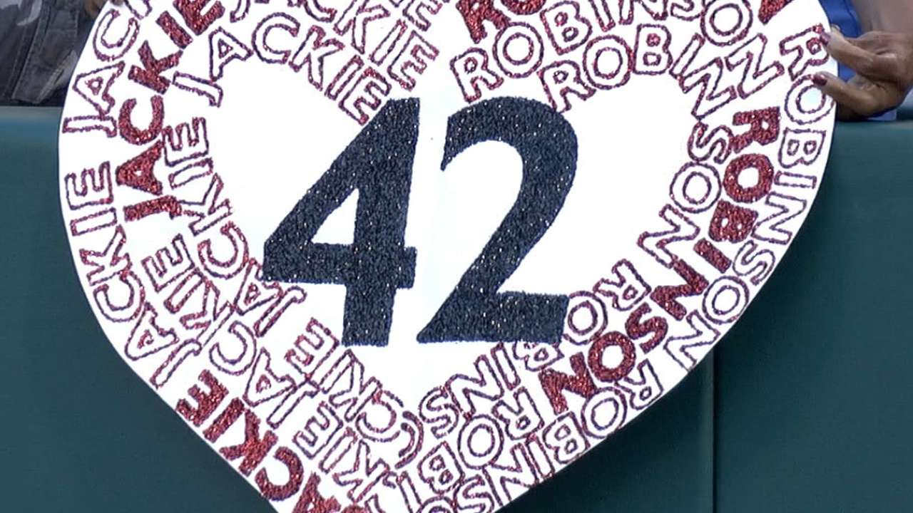 Jackie's courage celebrated as Rays don No. 42