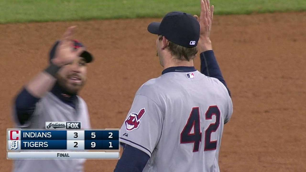 Axford bounces back with save, works on control