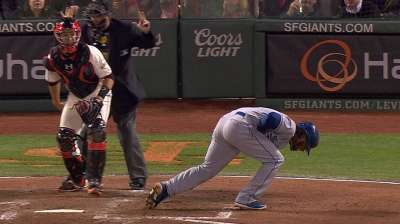 Hanley exits after pitch injures left hand