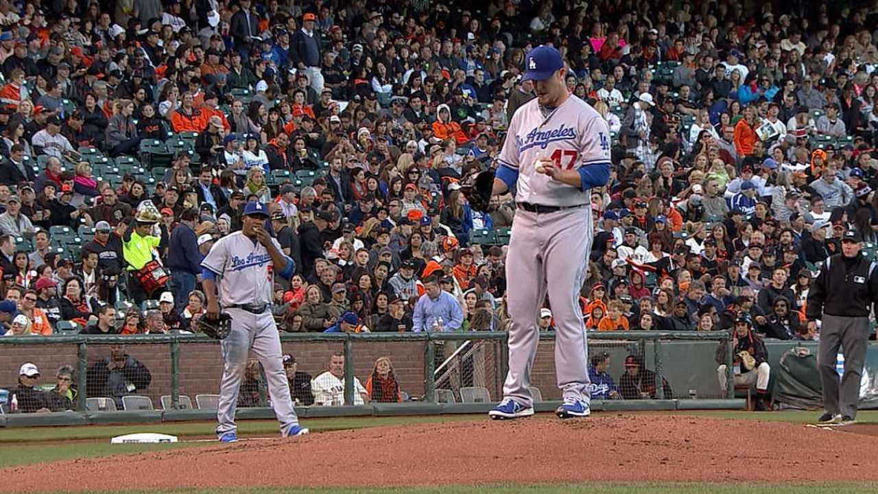 Dodgers fall short despite Maholm's solid outing