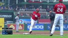 Choo's first Texas home run, small ball key victory