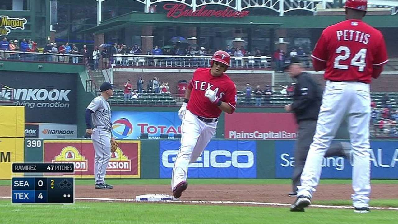 Rangers turn to small ball to top Mariners in finale