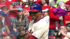 Phils ride Revere, Burnett past Braves