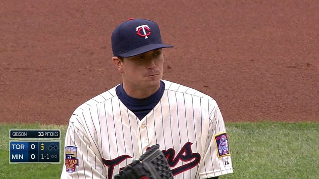 Twins take Game 1 behind Gibson's eight scoreless