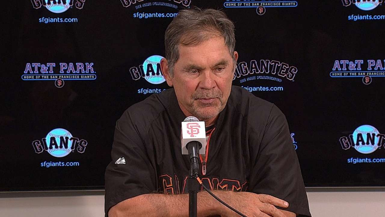 Bochy impressed by strength of NL West