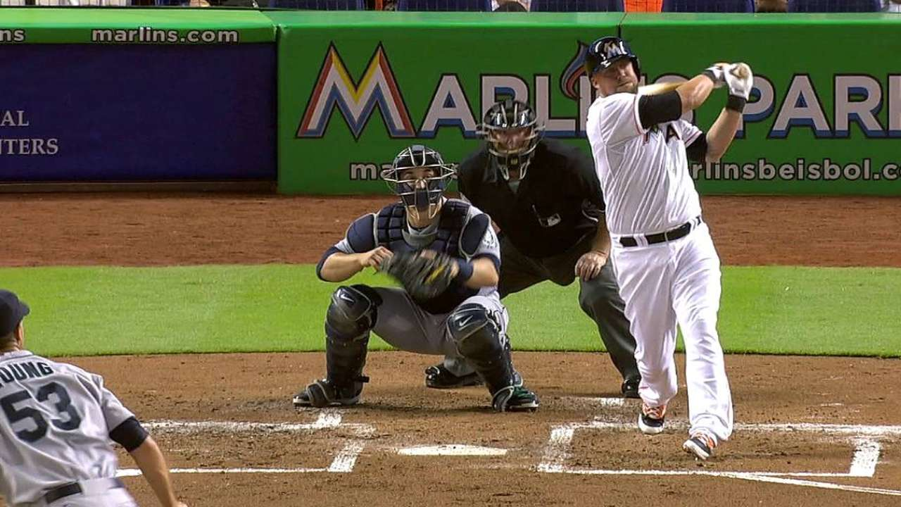 McGehee proving to be a hit at Marlins Park