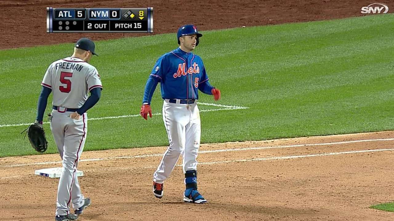 Mets held to one hit by Braves pitchers