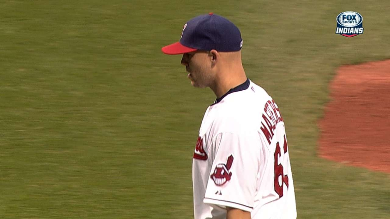 Masterson working with decreased velocity