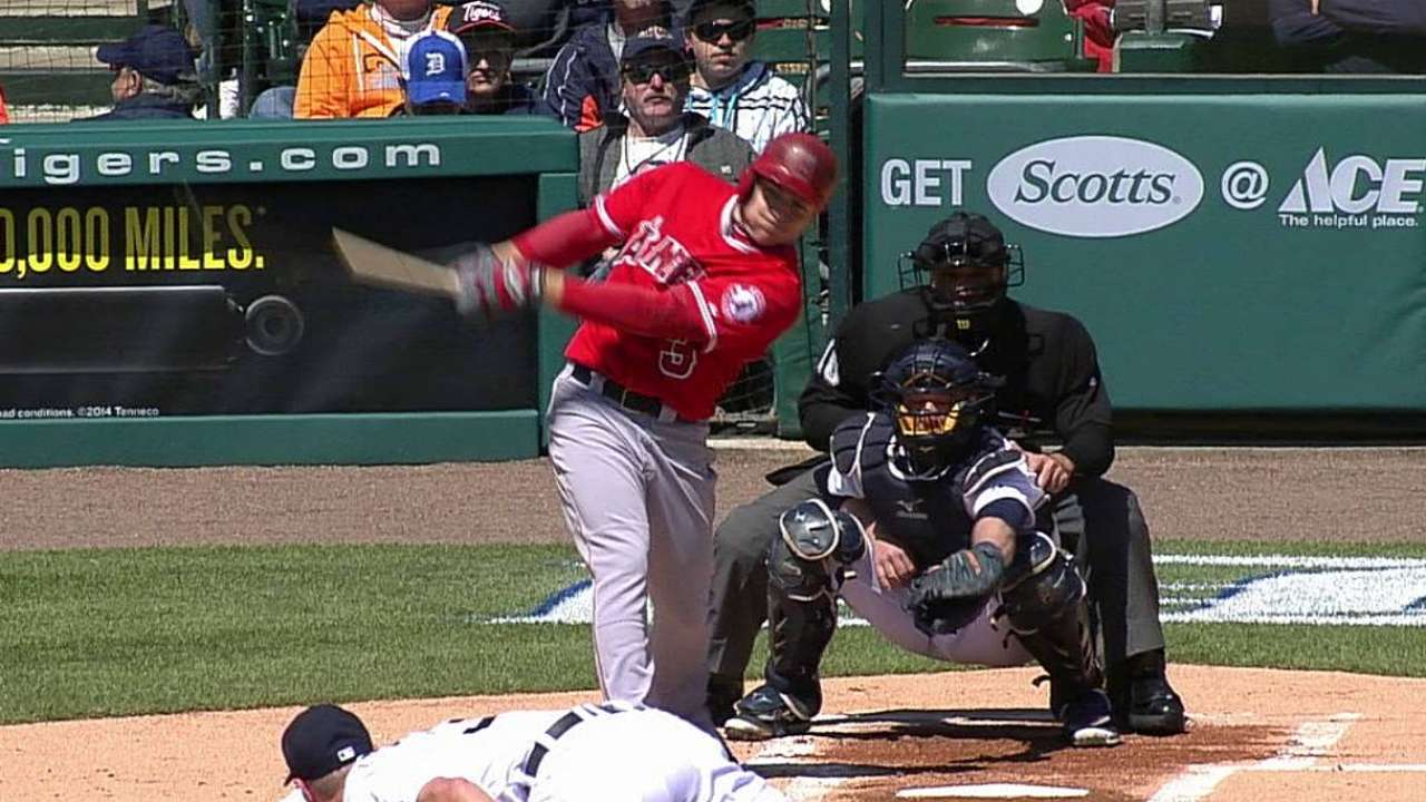 Homers come early, late as Angels topped by Tigers