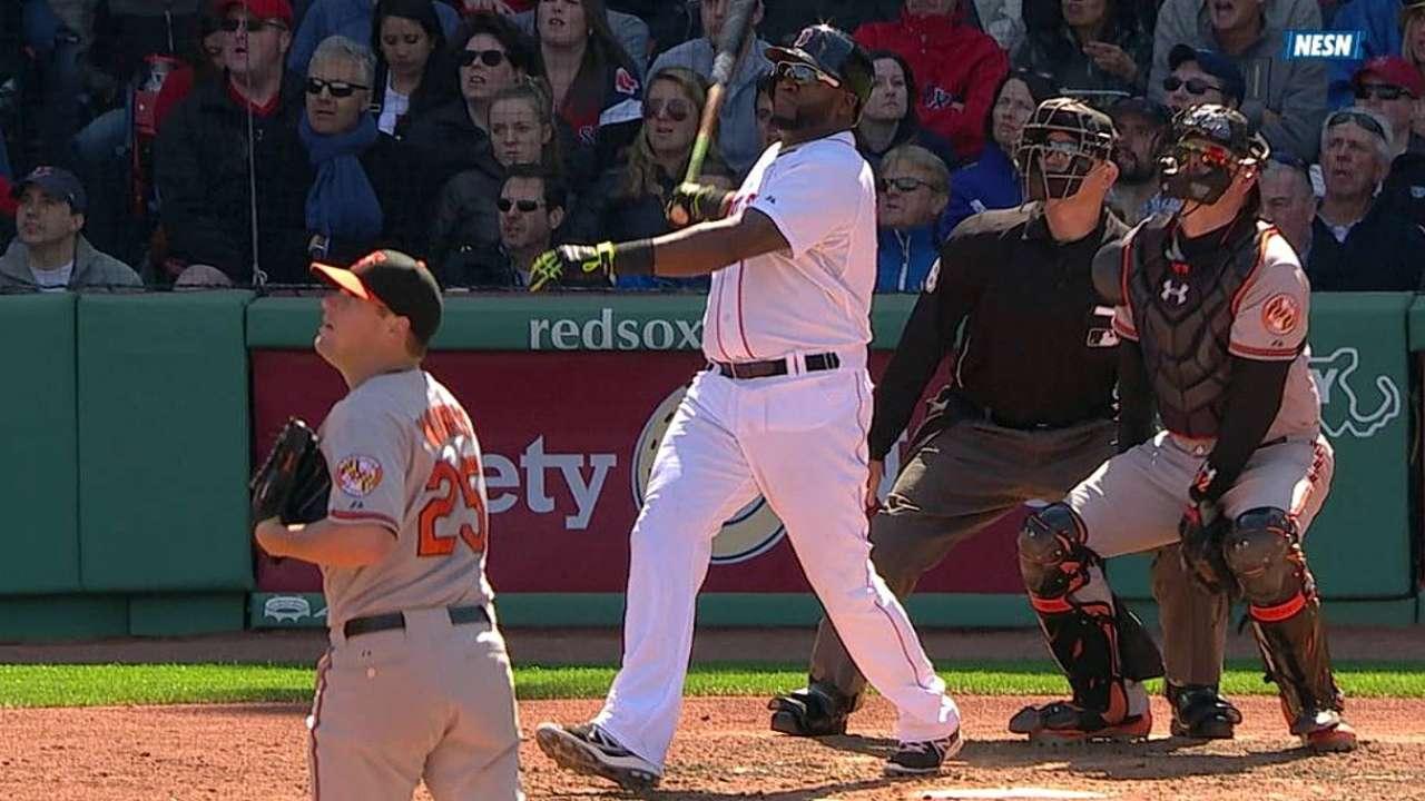 Ortiz se voló la cerca y Boston venció a los Orioles