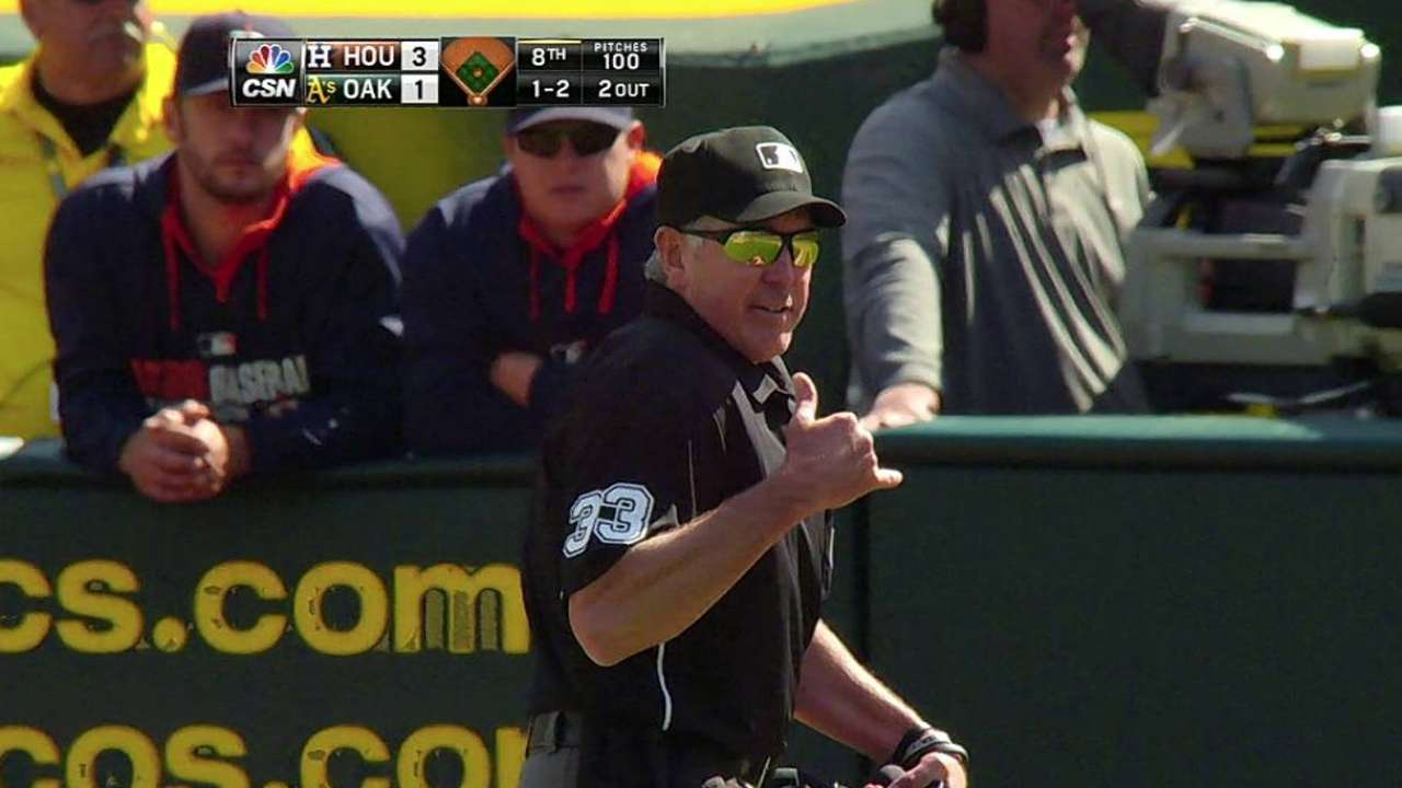 Count confrmed after review in A's-Astros game