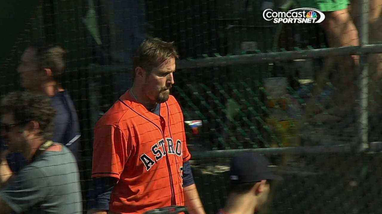 Astros can't hold lead in ninth in loss to A's
