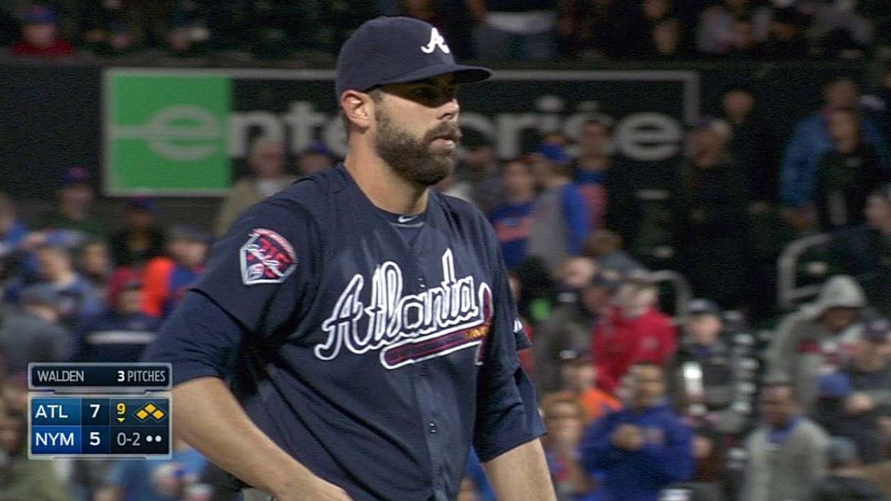 Walden returns to Braves' bullpen