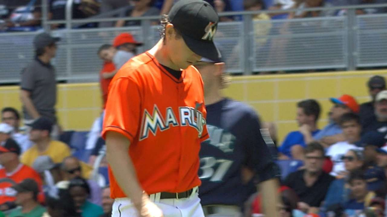 Marlins considering four-man rotation through April