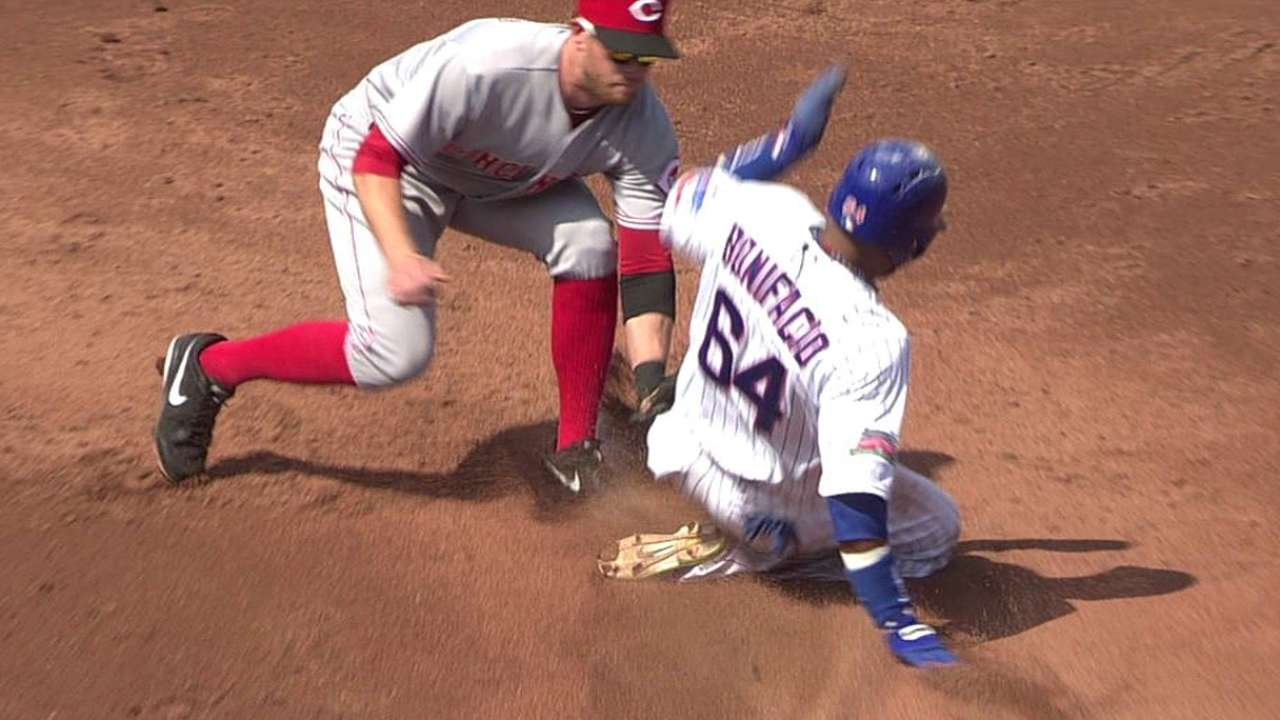 Bonifacio called out on overturned call at second