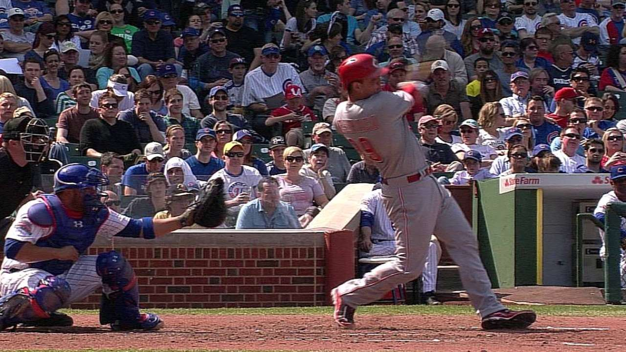 Mesoraco wielding red-hot bat at bottom of lineup