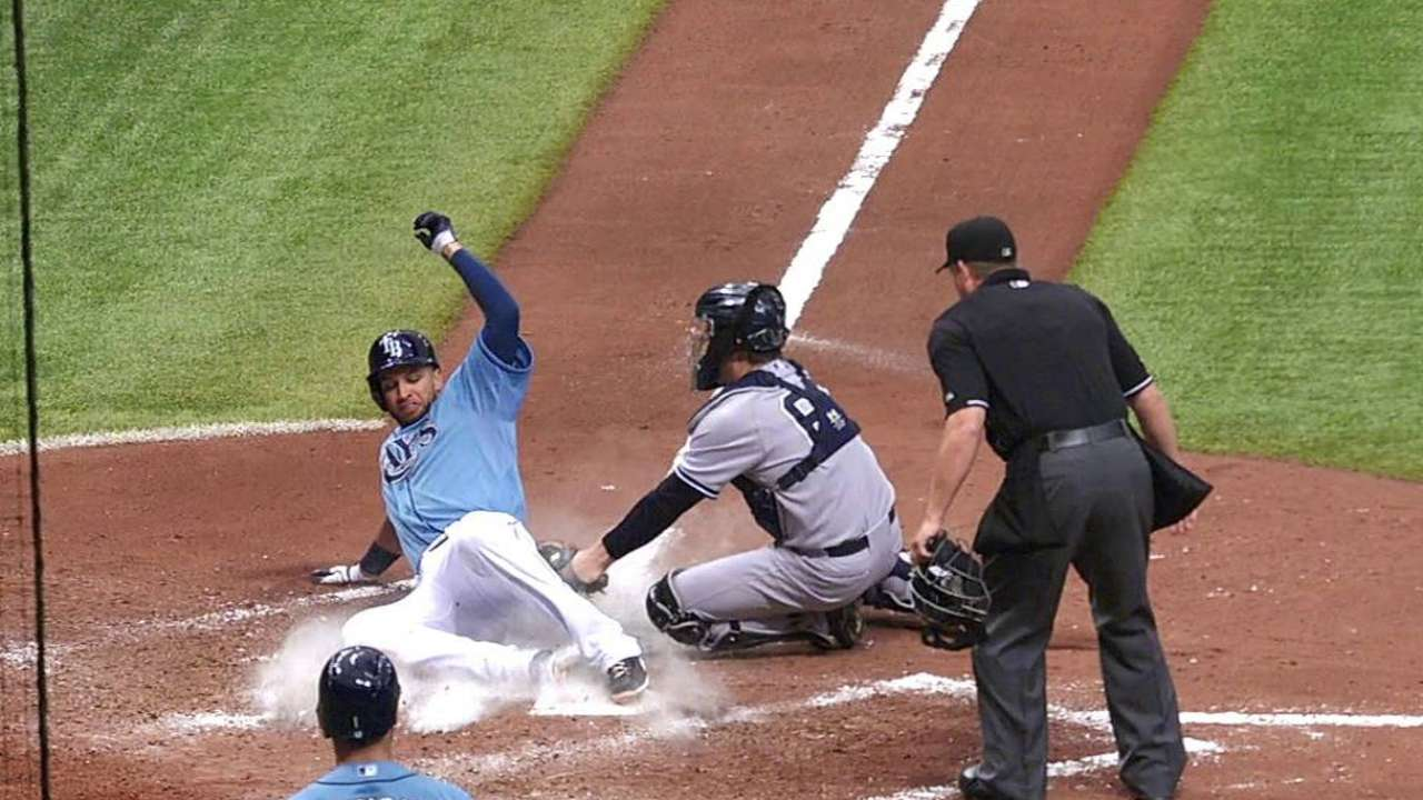 Rays split set with Yanks after falling in 12th