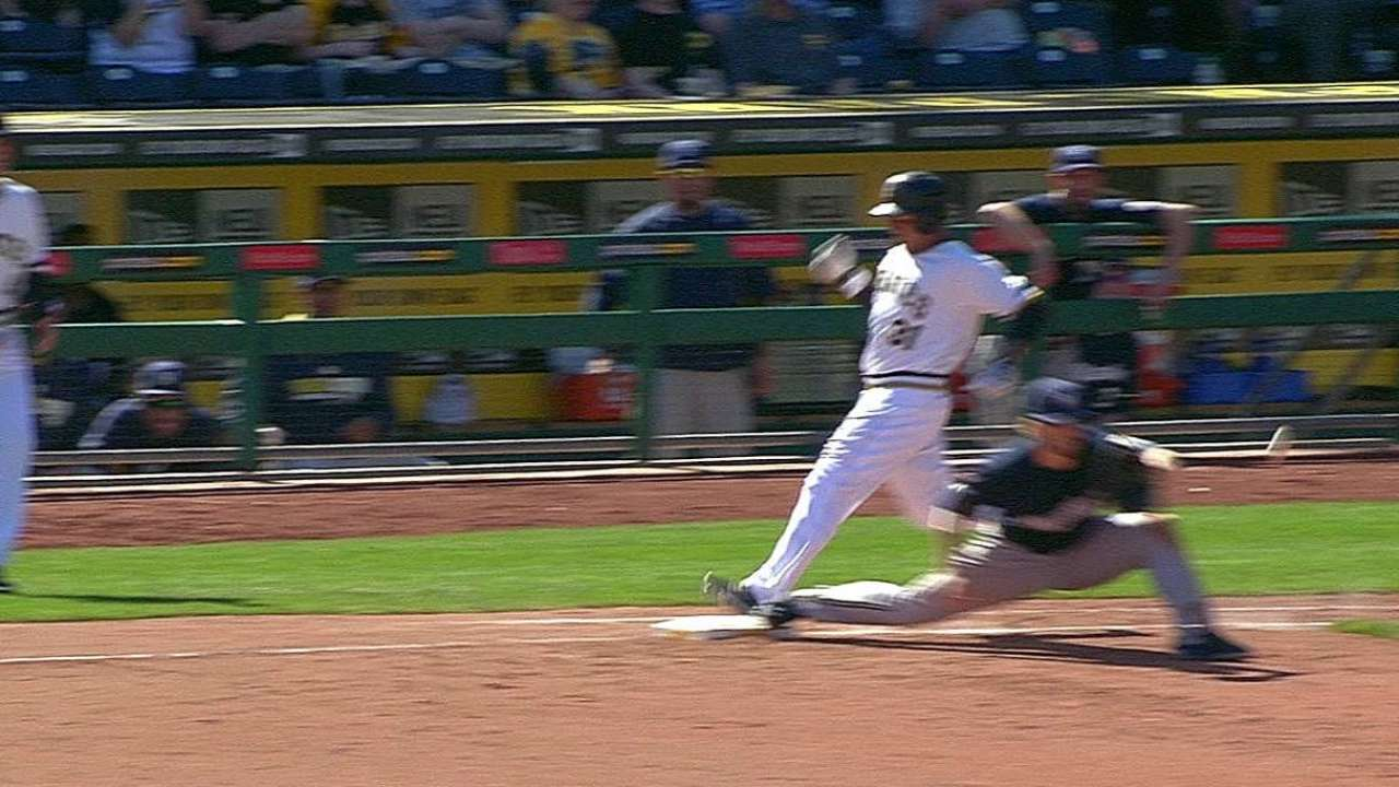 Safe call upheld on Tabata's infield single