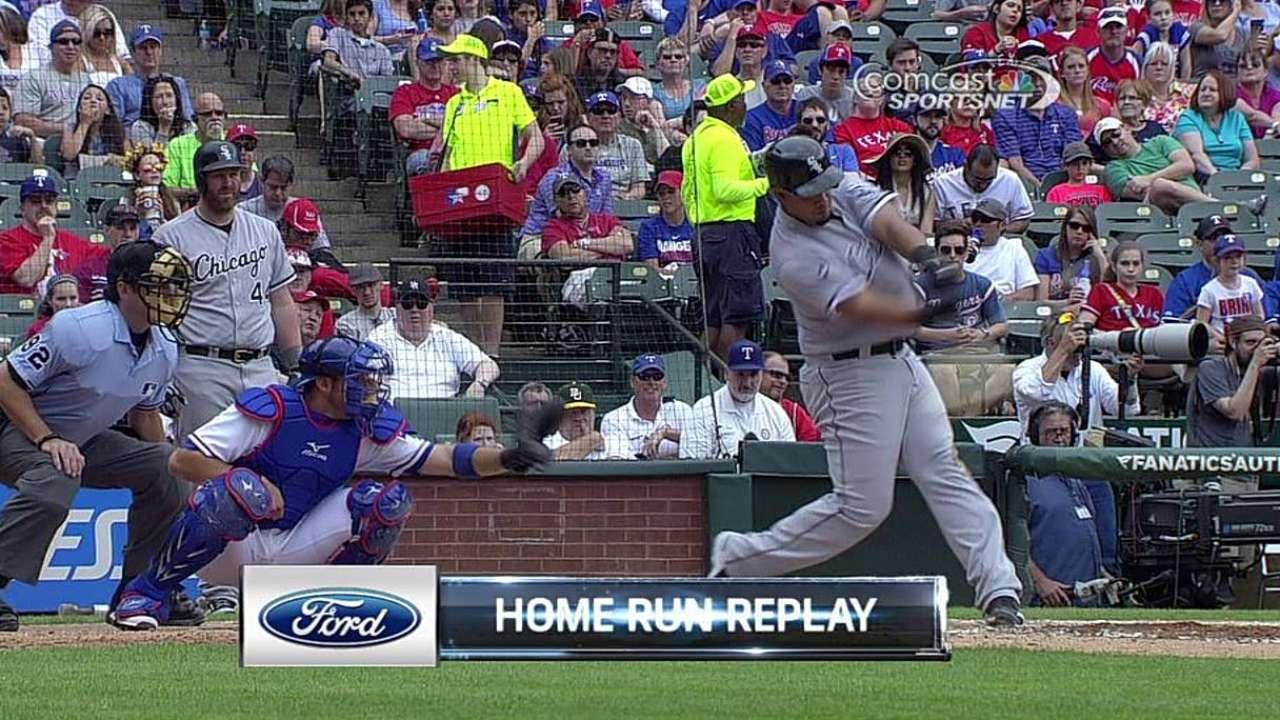 Abreu dio HR en paliza de White Sox sobre Rangers