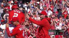 Nats edge Cards in ninth on Span's walk-off sac fly
