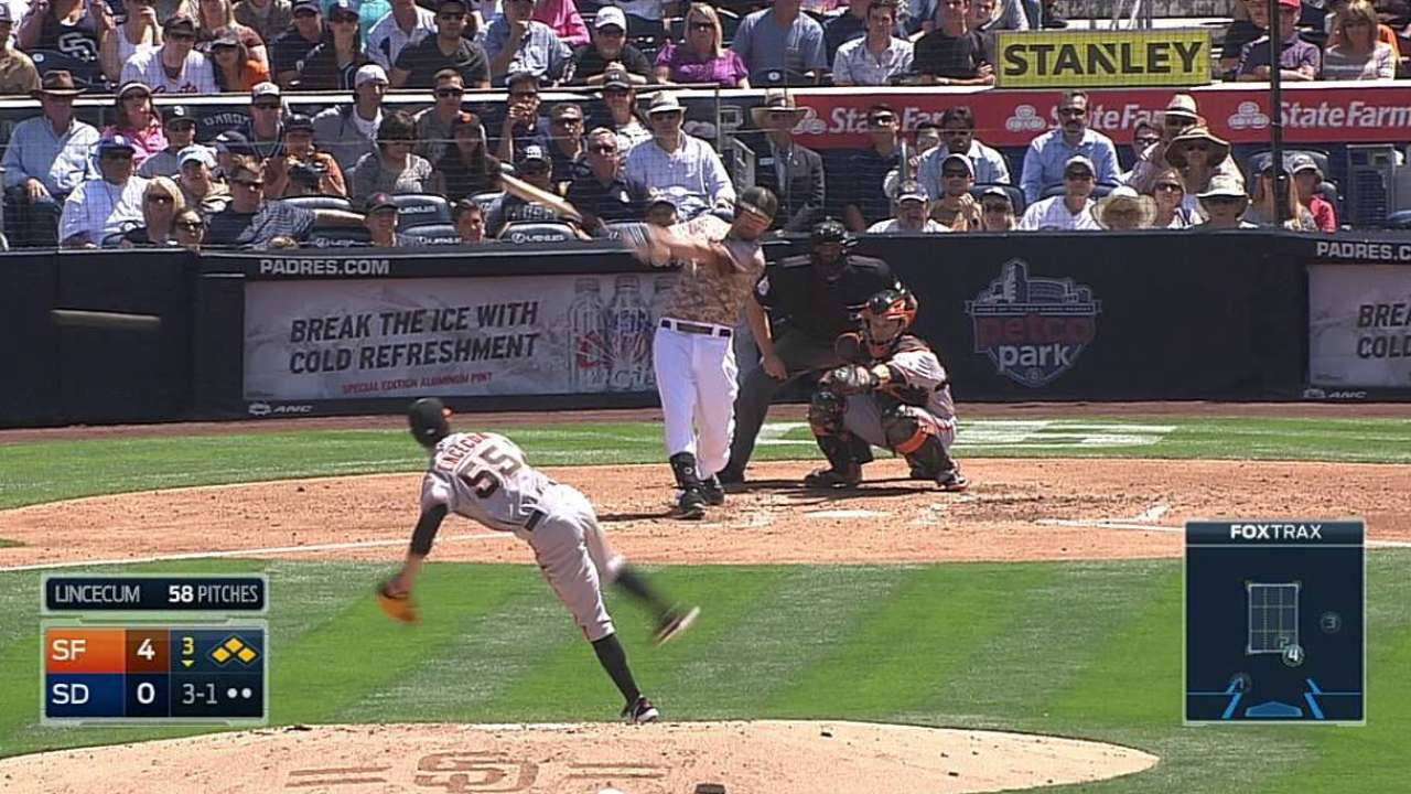 Erlin settles after early struggles, but Padres lose