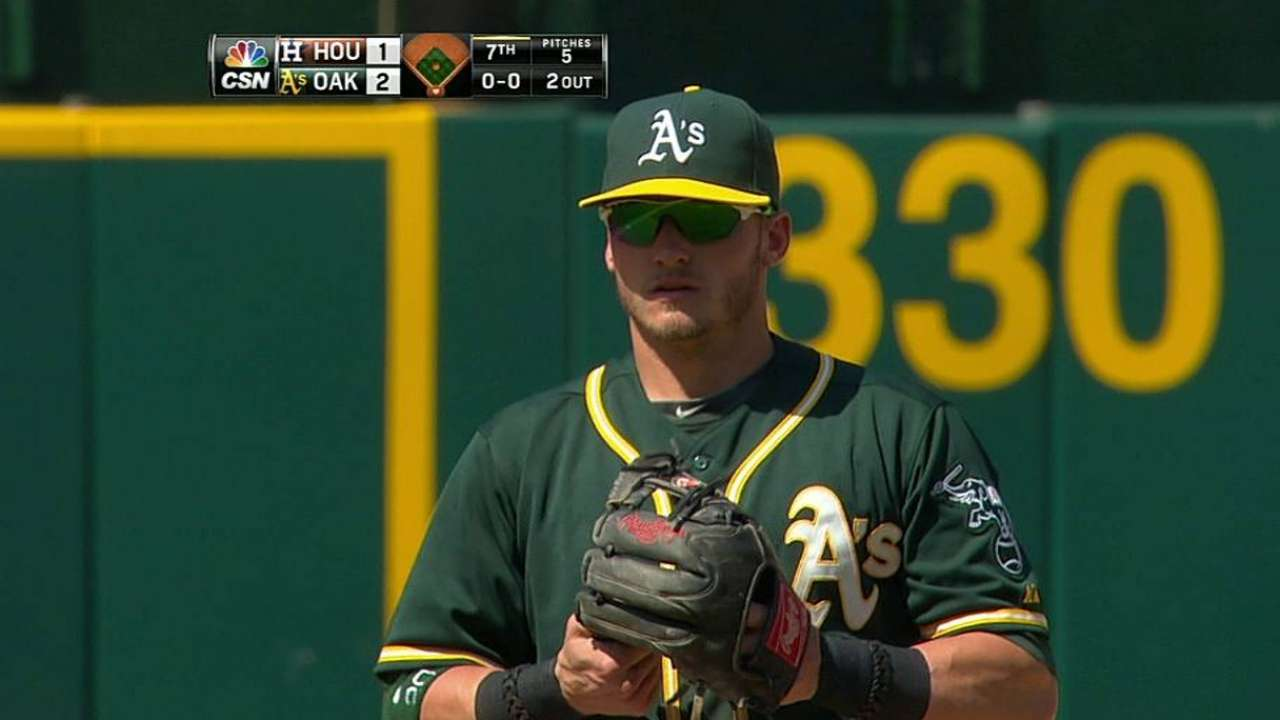 A's trying to clean up defense