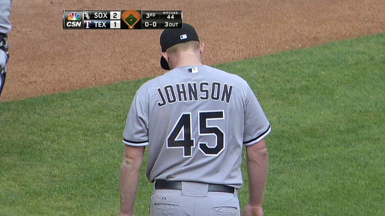 White Sox not losing faith in righty Johnson