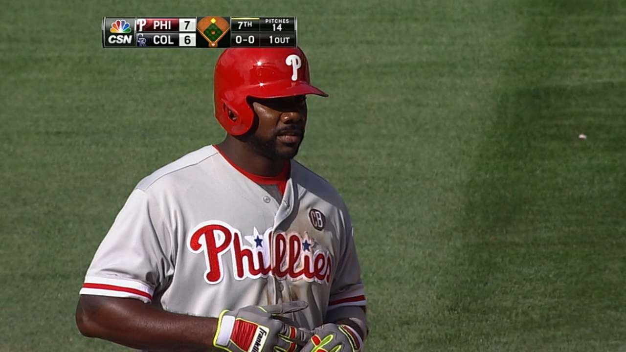 Phils seek retroactive cycle for Howard