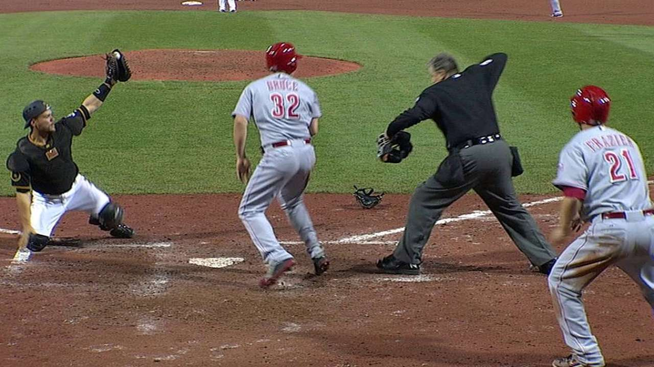 Reds lose replay challenge on valuable run