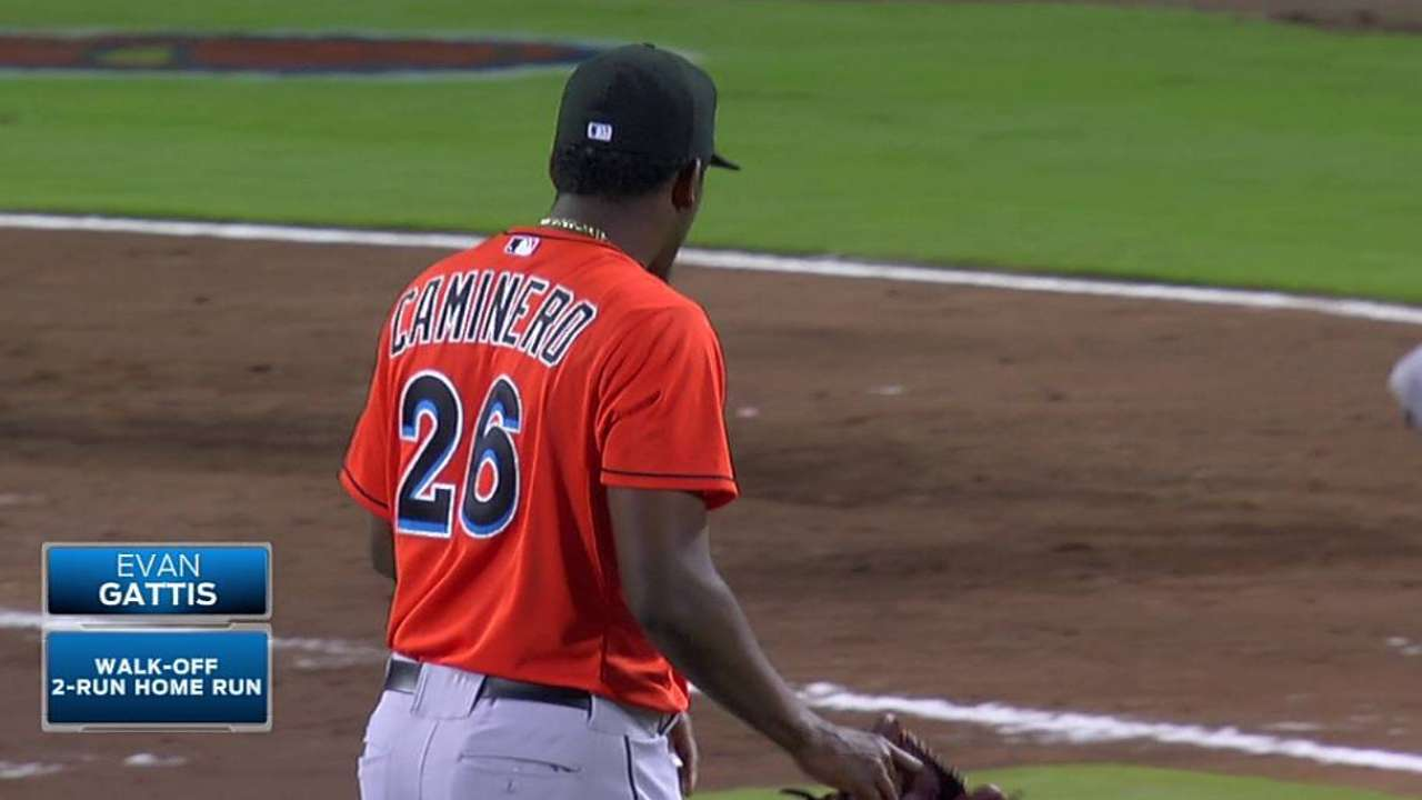 Caminero optioned a night after allowing walk-off