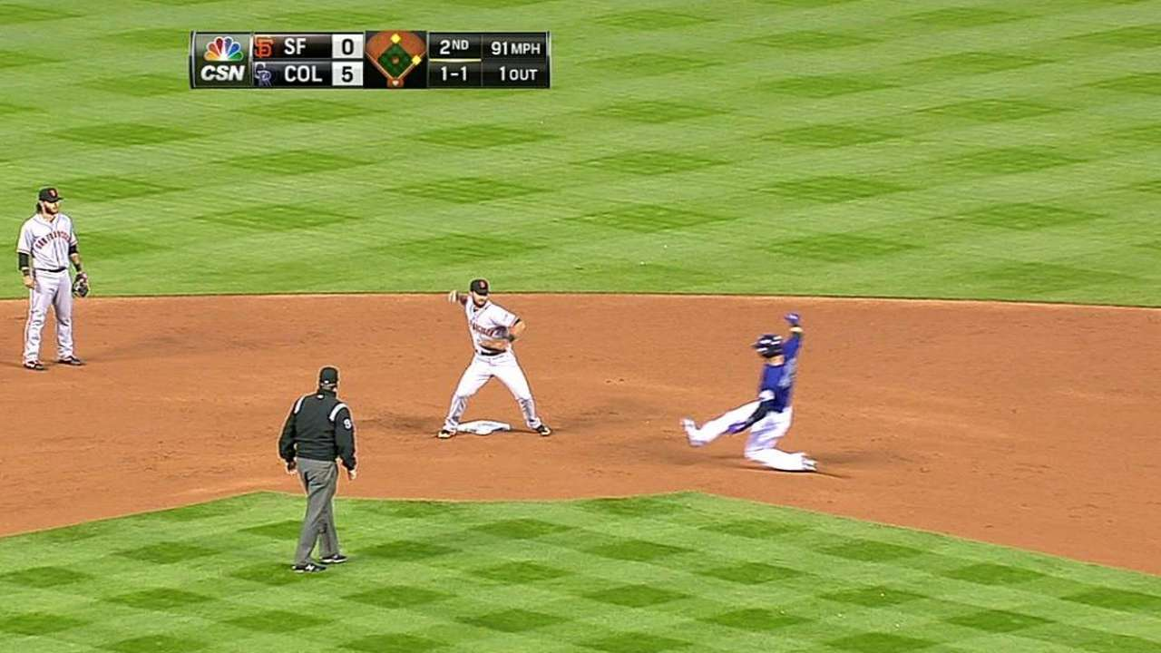Vogelsong stung by long ball in short outing