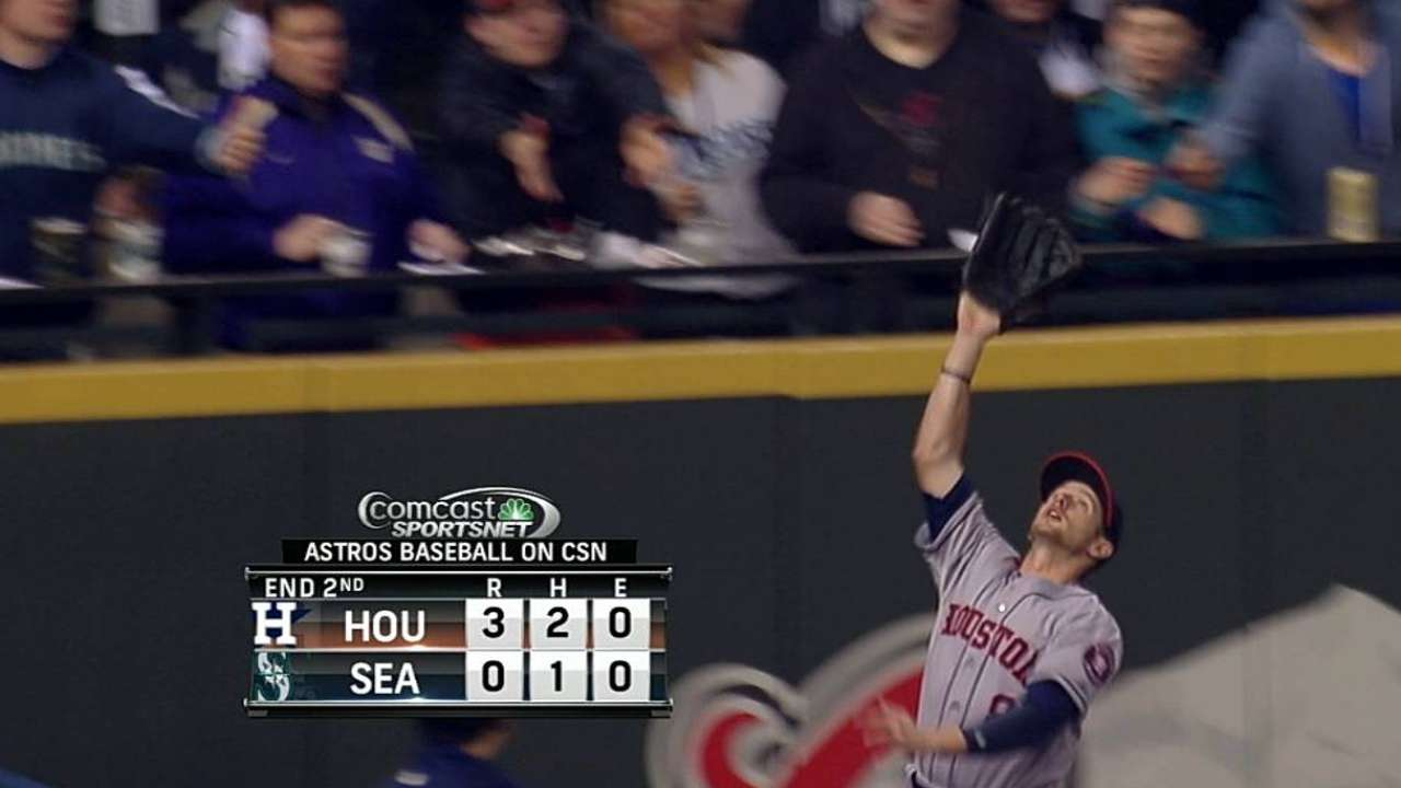 Astros give Presley third straight start in left