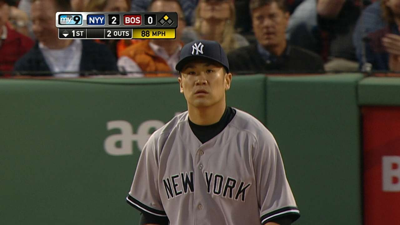 Tanaka still feeling his way through MLB lineups