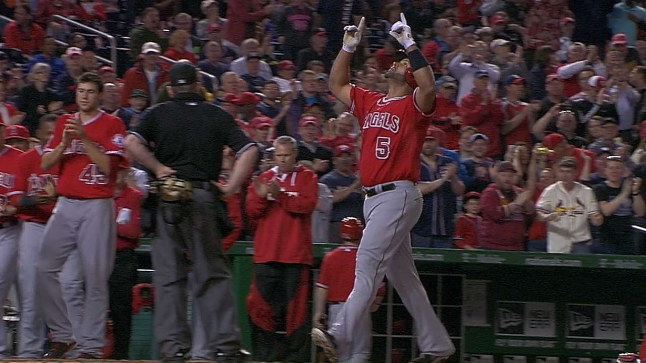 Angels to honor Pujols' 500th HR on Saturday