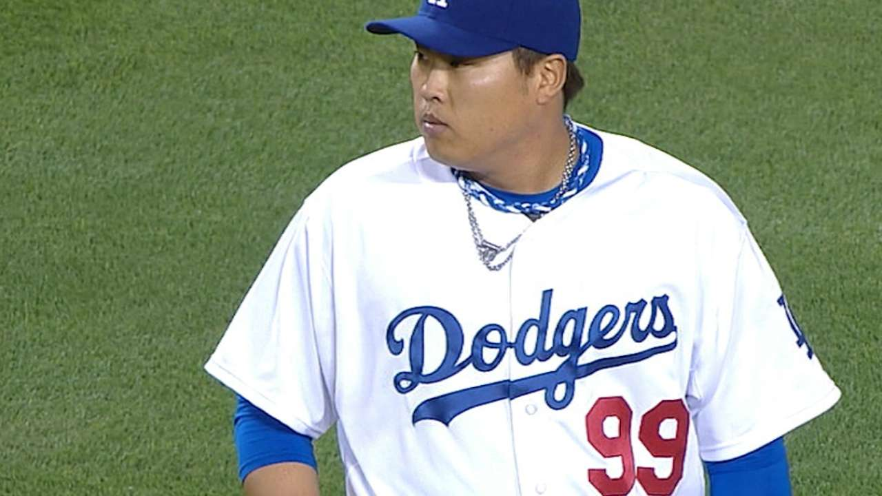 Rehabbing Ryu on the verge of rejoining Dodgers