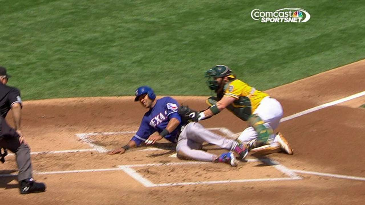 Melvin wins challenge on close play at plate