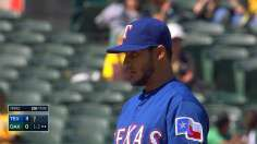 Perez continues to dazzle as Rangers sweep A's