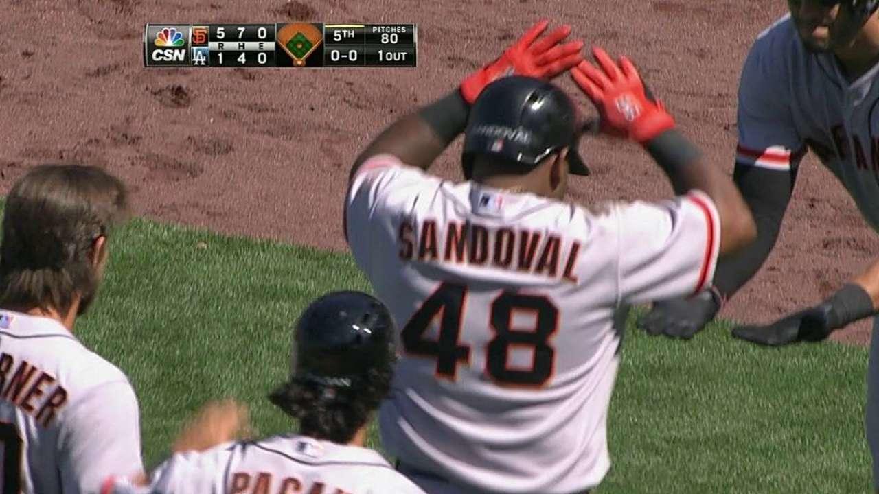 Sandoval sonó HR en triunfo de Gigantes vs. Dodgers