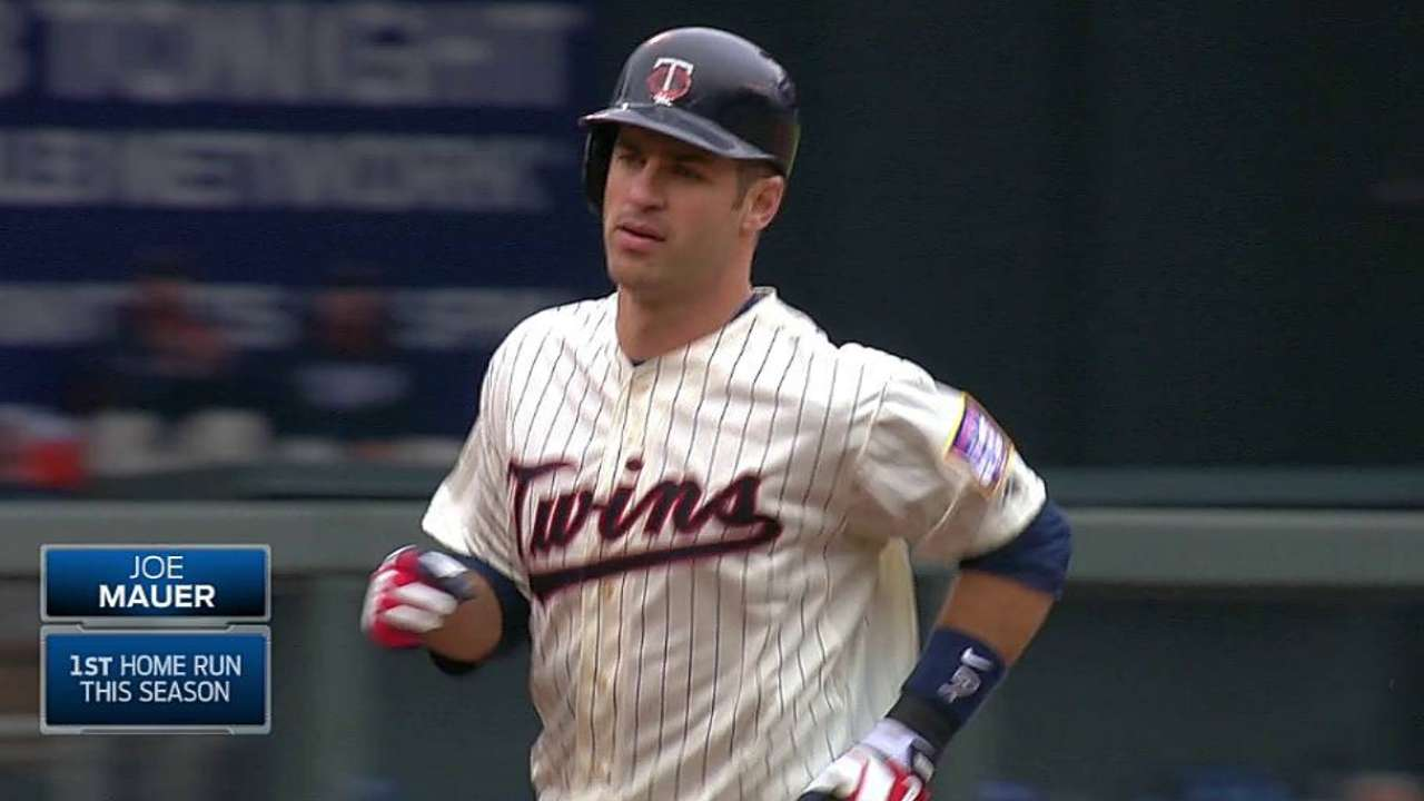 Mauer in impressive first-base race on All-Star ballot