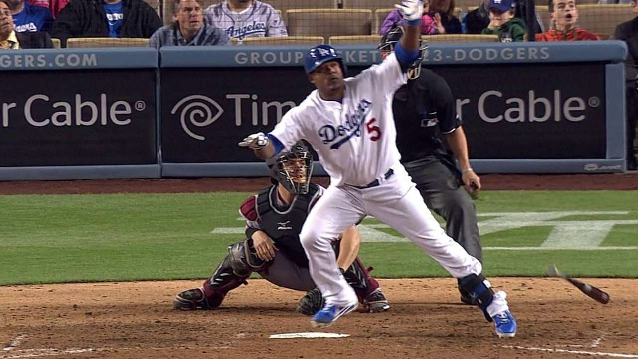 Uribe da HR pero Dodgers caen con D-backs en extras