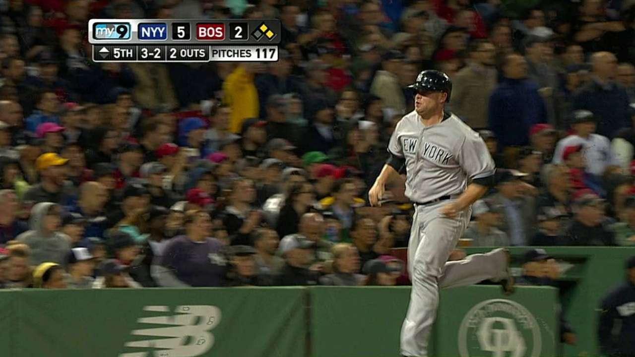 Ellsbury condujo a Yankees a la victoria en Boston