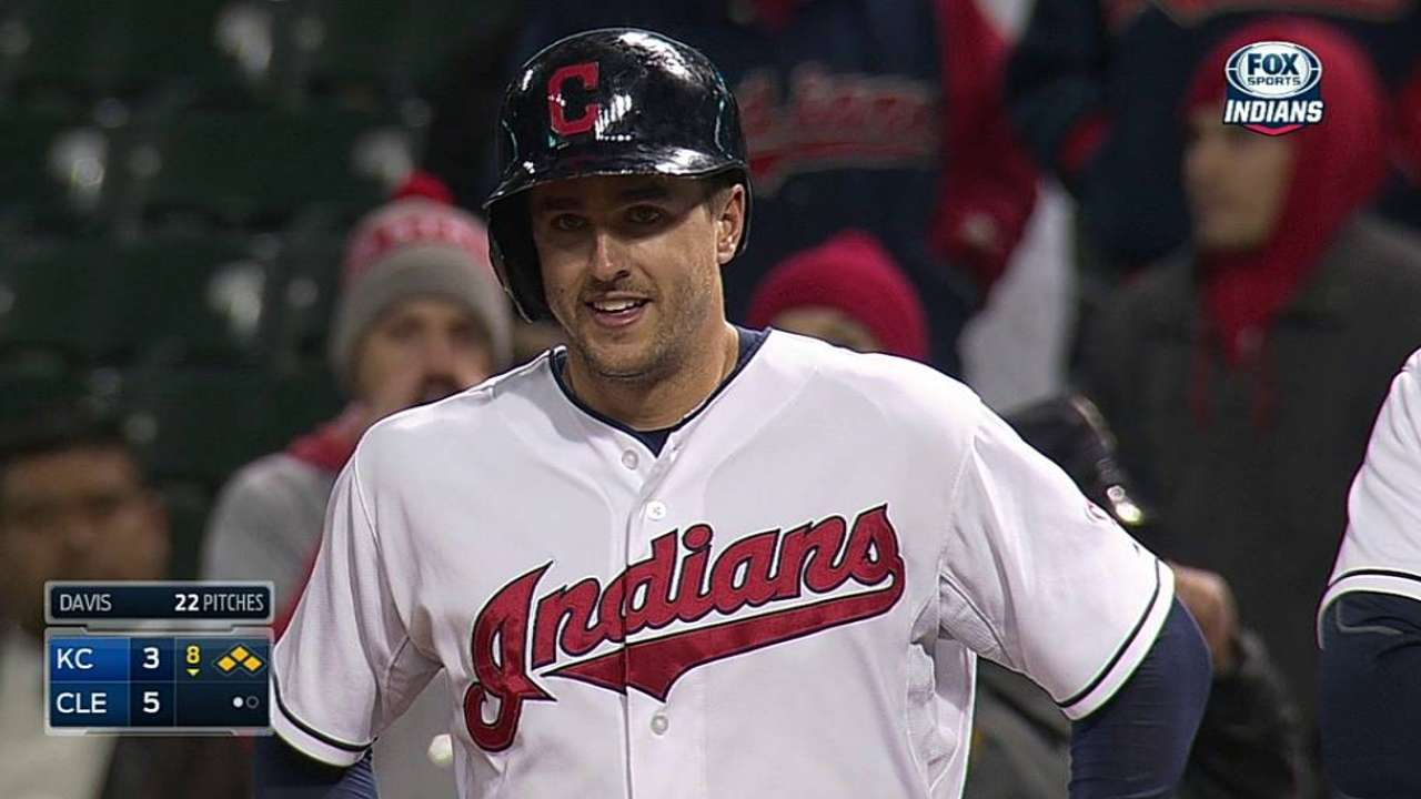 Chisenhall seeing limited time vs. lefties