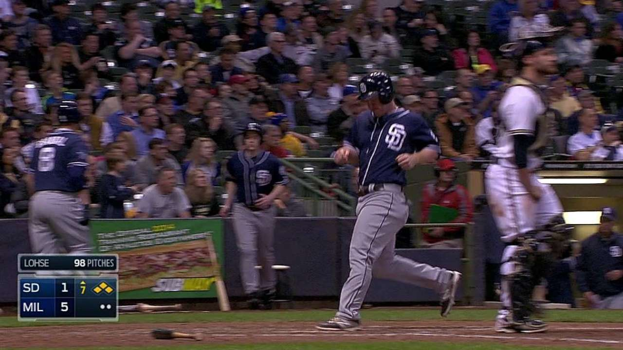 Ross gives up two homers as Padres fall to Brewers