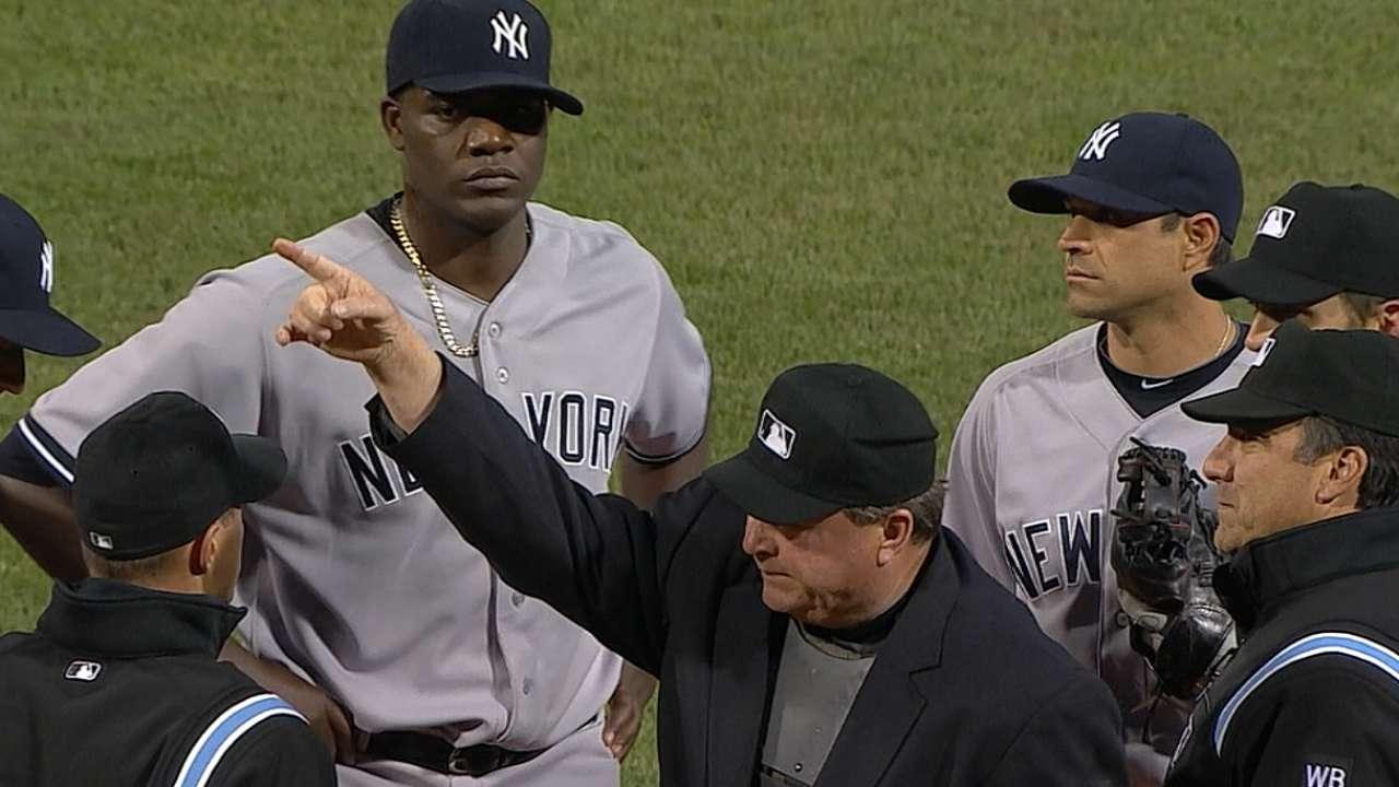 MLB suspende por 10 juegos a Michael Pineda
