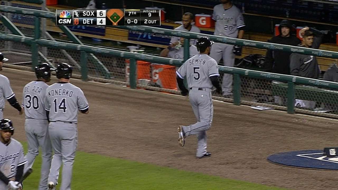Semien's slam sparks White Sox comeback win