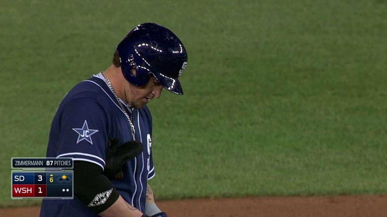 Grandal gets first big league start at first base